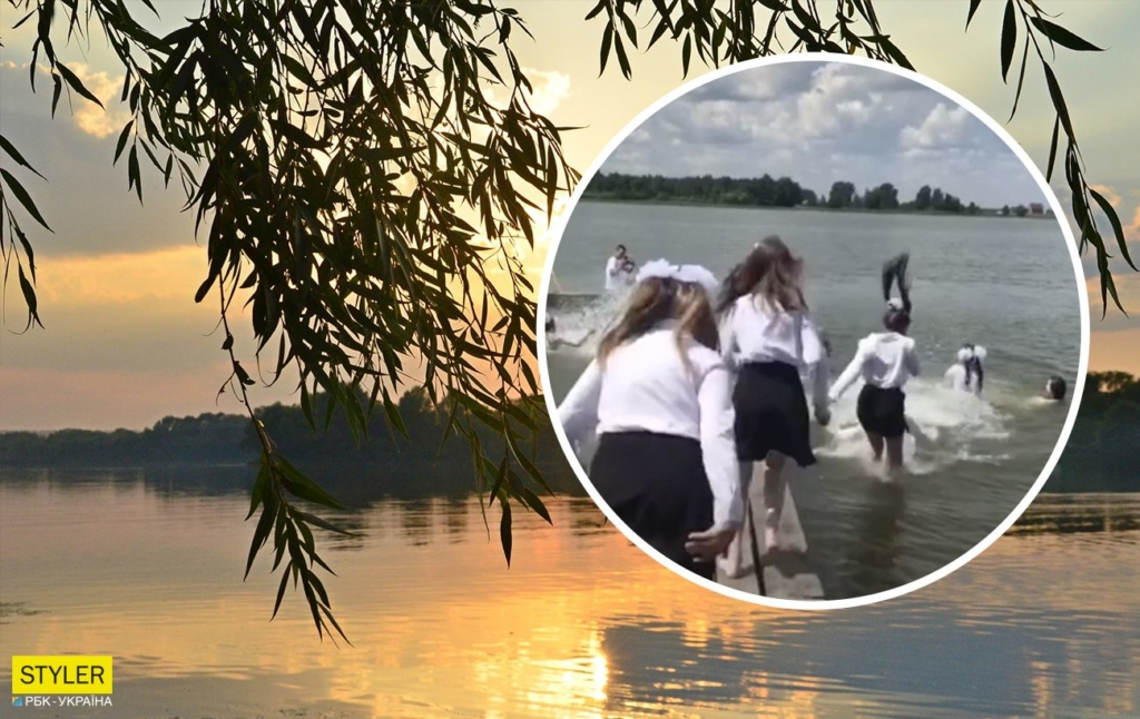 Під Рівним школярки оригінально відсвяткували завершення навчання: у мережі відео стало популярним