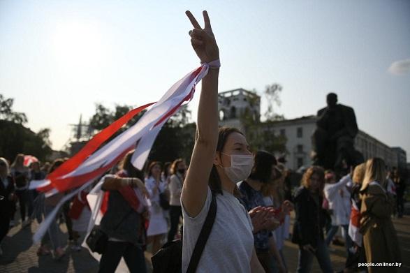 Білорусь: понад 100 затриманих під час протесту 12 вересня – МВС Білорусі