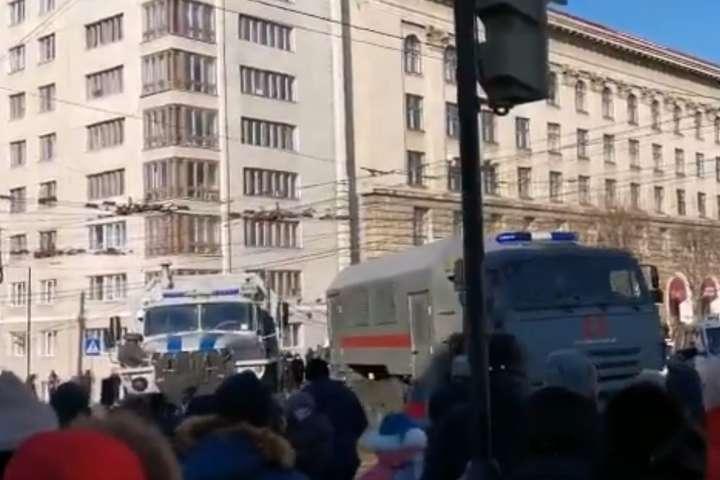 У Росії почалися акції на підтримку Навального, є затримані