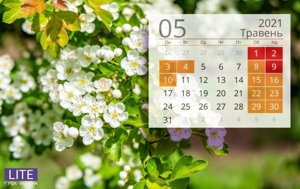 Календар свят на травень 2021: що будемо відзначати і скільки відпочивати