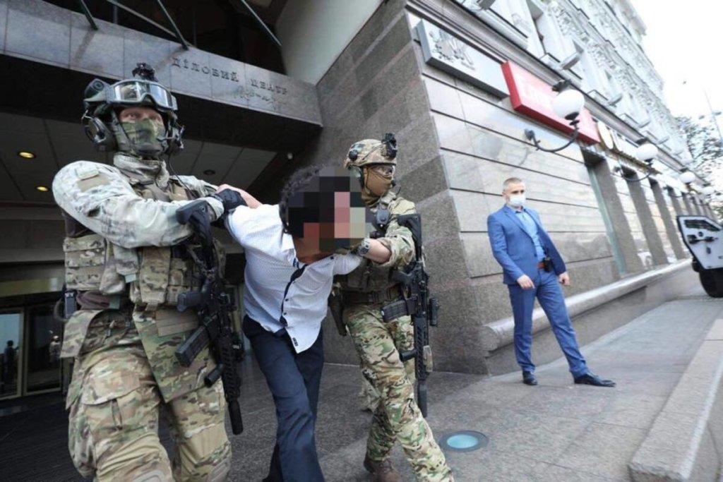 Захоплення заручника в центрі Києва: з'явилося відео затримання терориста